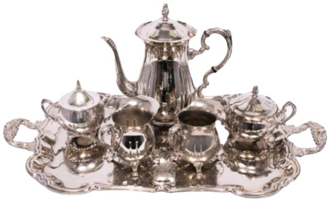 Where to find Serving, 5 PC Silver Coffee Tea Set in Portland