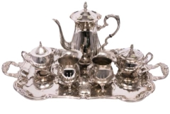 Rental store for Serving, 5 PC Silver Coffee Tea Set in Portland OR