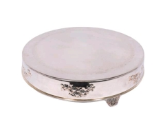 Rental store for Serving, 18  Silver Round Cake Stand in Portland OR